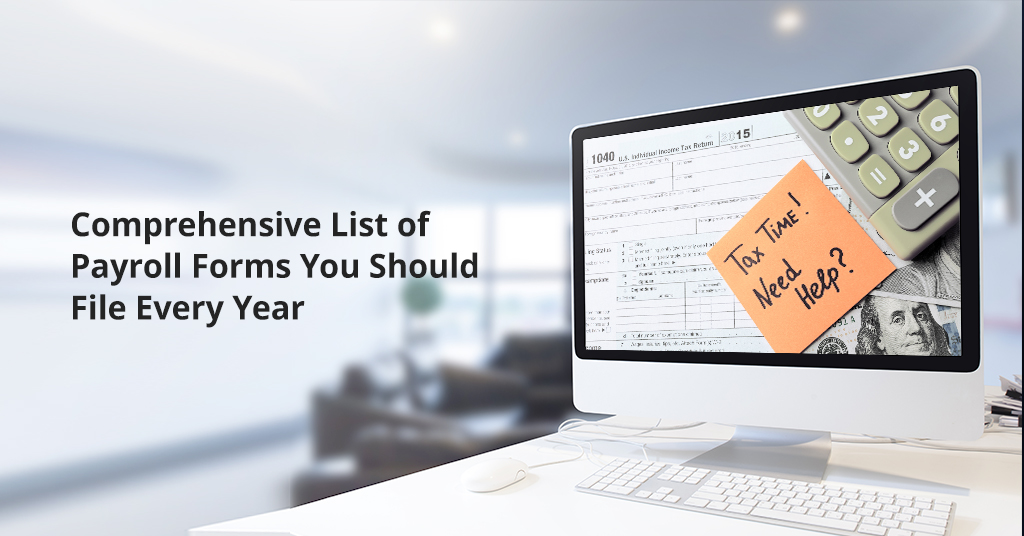 List of payroll forms